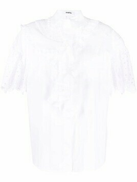 Vivetta flutter-sleeved ruffled shirt - White