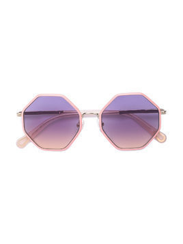 Chloé Kids tinted octagonal sunglasses - Pink & Purple