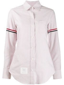 Thom Browne Grosgrain Armband Stripe Classic Shirt - Red