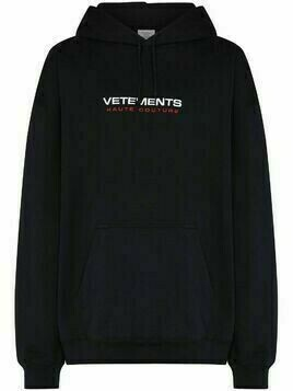 Vetements Haute Couture logo-embroidered hoodie - Blue
