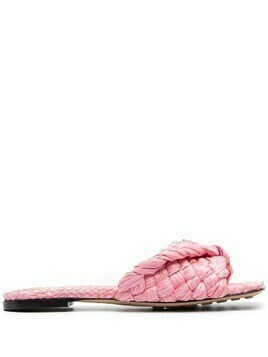 Bottega Veneta Stretch Intrecciato flat sandals - Pink
