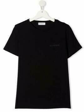 Paolo Pecora Kids TEEN crew-neck fitted T-shirt - Black