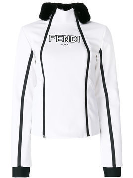 Fendi zipped fitted jacket - White