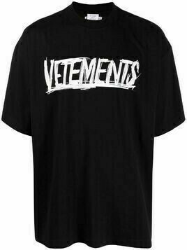 VETEMENTS logo-print short-sleeved T-shirt - Black