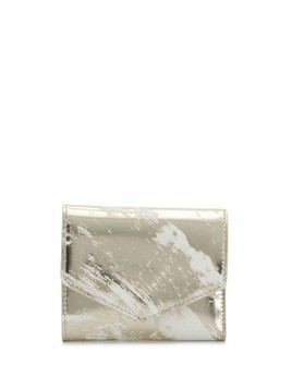 Maison Margiela scratched effect metallic small wallet - Silver