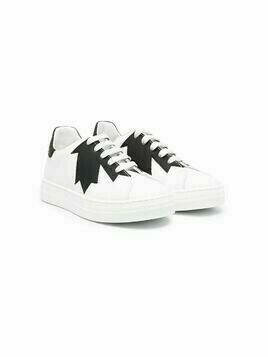 Dsquared2 Kids logo-print low-top sneakers - White