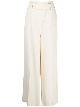 Aeron belted wide-leg trousers - Neutrals