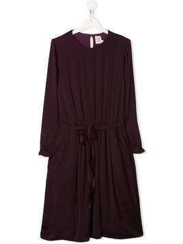 Caffe' D'orzo TEEN Maori tie waist dress - PURPLE