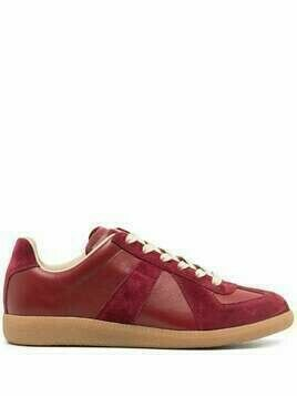Maison Margiela panelled low-top sneakers - Red