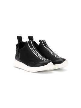 Bumper Lamborghini tape hi-top sneakers - Black