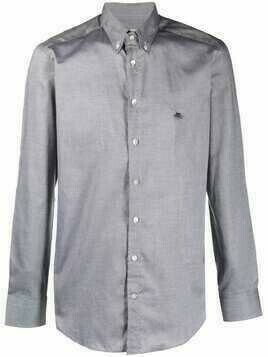 Etro button-collar cotton shirt - Grey