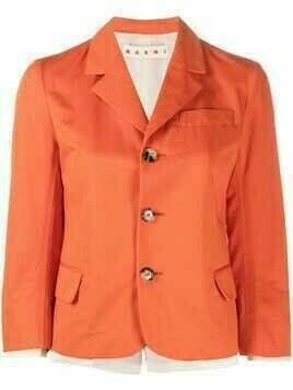 Marni layered single-breasted blazer - Orange