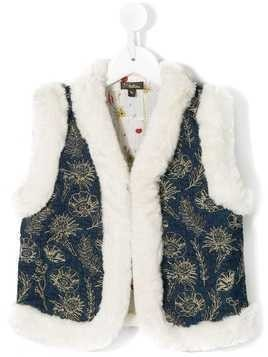 Velveteen Robyn embroidered gilet - Blue