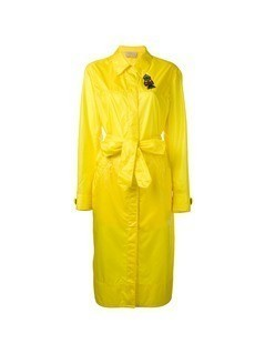 Christopher Kane long parachute coat - Yellow&Orange