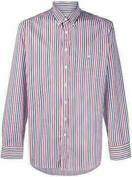 Etro vertical stripe-print cotton shirt - Blue