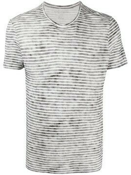 Majestic Filatures faded-effect striped T-shirt - Black