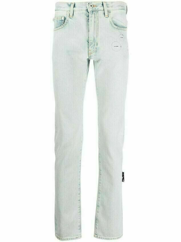 Off-White Hands-Off straight-leg jeans - Blue