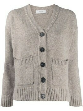 Pringle of Scotland cropped cashmere cardigan - Neutrals