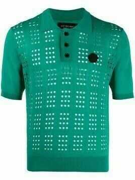 Viktor & Rolf open-knit polo shirt - Green