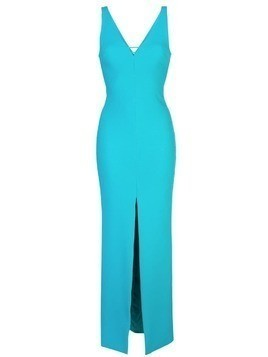 Likely plunging neckline gown - Blue