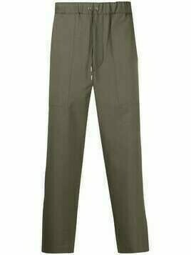OAMC drawstring cropped trousers - Green