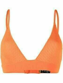 Dodo Bar Or ribbed triangle-cup bra - Orange
