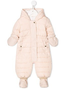 Chloé Kids shell padded snowsuit - Pink