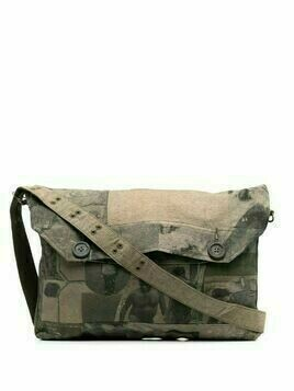 Ziggy Chen graphic-print shoulder bag - Green
