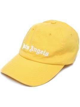 Palm Angels embroidered logo cap - Yellow