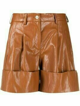 Jejia turned-up hem shorts - Brown