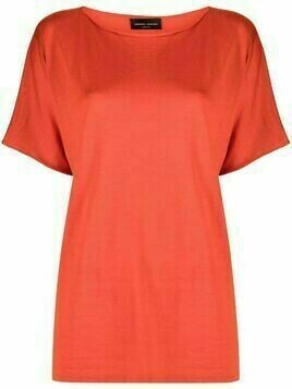 Roberto Collina boat neck cashmere-blend top - Orange