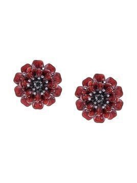 Marchesa Poppy flower earrings - Red