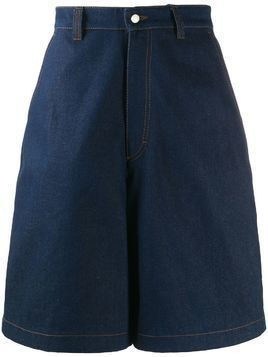 AMI Paris wide-leg denim shorts - Blue