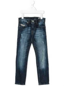 Diesel Kids distressed slim jeans - Blue