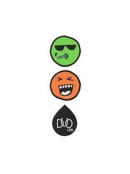 DUOltd smiley pin set - Green