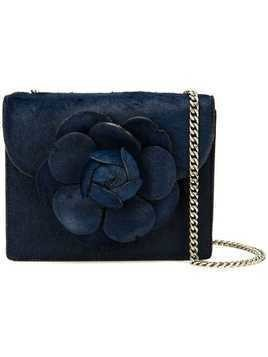 Oscar de la Renta pony hair mini Tro bag - Blue