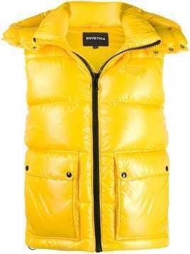 Duvetica hooded padded gilet - Yellow