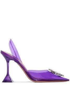 Amina Muaddi Begum 95mm crystal-embellished pumps - PURPLE