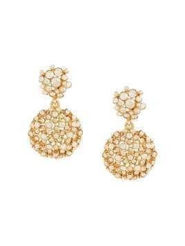 Oscar de la Renta mixed jeweled flower earrings - Metallic