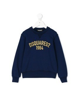 Dsquared2 Kids logo print sweatshirt - Blue