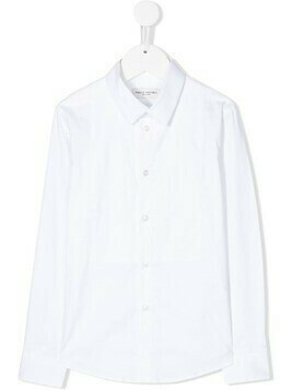 Paolo Pecora Kids longsleeved curved hem shirt - White