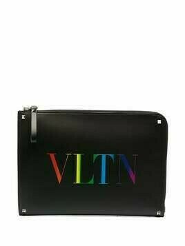 Valentino Garavani VLTN-print document case - Black