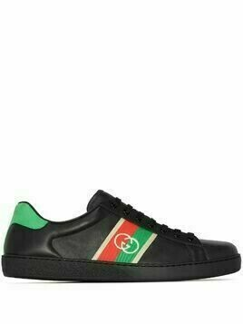 Gucci Ace leather low-top sneakers - Black