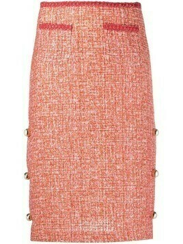 Pinko tweed pencil skirt - Red