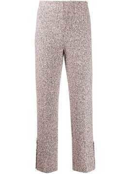 20:52 tweed straight-leg trousers - PINK