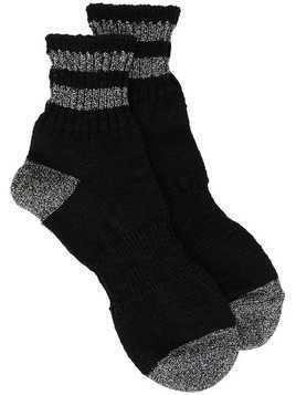 Kolor stripe-trim socks - Black
