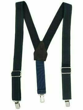 Paolo Pecora Kids logo-patch two-tone suspenders - Blue