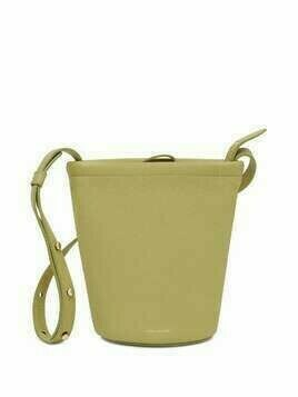Mansur Gavriel Mini Zip Bucket leather bag - Green