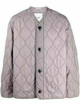 OAMC quilted collarless jacket - Purple