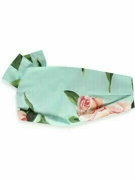 Dolce & Gabbana Kids floral pattern headband - Green